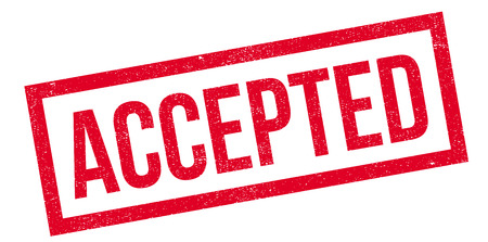 accepted: Accepted rubber stamp. Grunge design with dust scratches. Effects can be easily removed for a clean, crisp look. Color is easily changed.