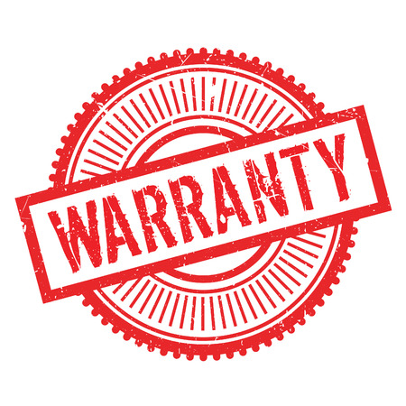 Warranty stamp. Grunge design with dust scratches. Effects can be easily removed for a clean, crisp look. Color is easily changed. Illustration