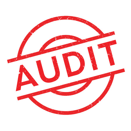 auditing: Audit rubber stamp. Grunge design with dust scratches. Effects can be easily removed for a clean, crisp look. Color is easily changed.