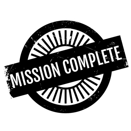 undertaking: Mission complete stamp. Grunge design with dust scratches. Effects can be easily removed for a clean, crisp look. Color is easily changed.
