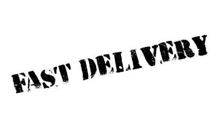 Fast delivery stamp. Grunge design with dust scratches. Effects can be easily removed for a clean, crisp look. Color is easily changed.