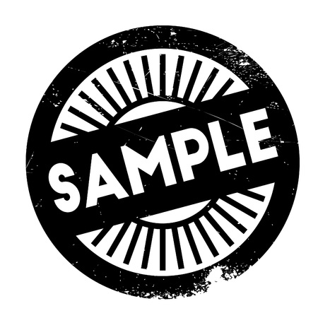 morsel: Sample stamp. Grunge design with dust scratches. Effects can be easily removed for a clean, crisp look. Color is easily changed.