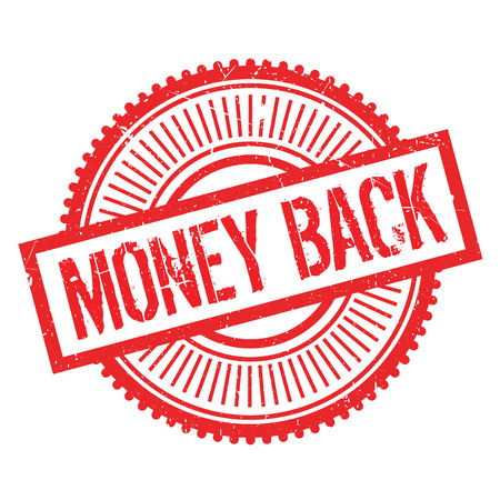 remuneration: Money back stamp. Grunge design with dust scratches. Effects can be easily removed for a clean, crisp look. Color is easily changed. Illustration