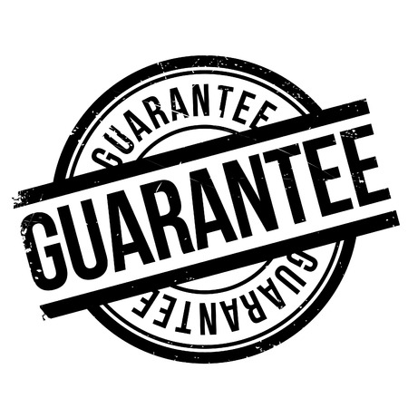 affirmation: Guarantee stamp. Grunge design with dust scratches. Effects can be easily removed for a clean, crisp look. Color is easily changed. Illustration