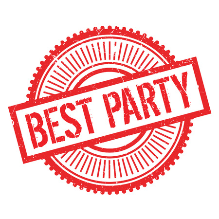 superlative: Best party stamp. Grunge design with dust scratches. Effects can be easily removed for a clean, crisp look. Color is easily changed.
