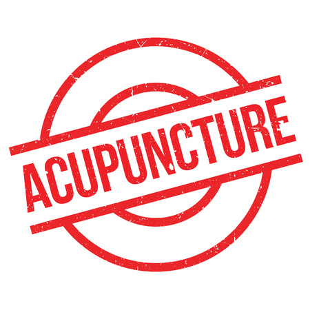 stimulation: Acupuncture rubber stamp. Grunge design with dust scratches. Effects can be easily removed for a clean, crisp look. Color is easily changed. Illustration