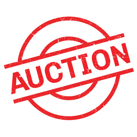 auctioneer: Auction rubber stamp. Grunge design with dust scratches. Effects can be easily removed for a clean, crisp look. Color is easily changed.