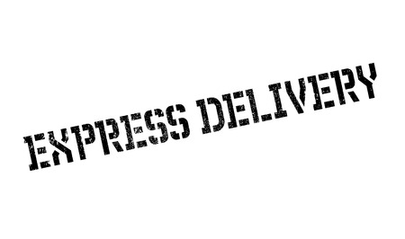 Express delivery stamp. Grunge design with dust scratches. Effects can be easily removed for a clean, crisp look. Color is easily changed. Vetores