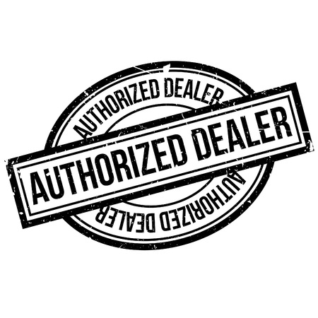 Authorized Dealer rubber stamp. Grunge design with dust scratches. Effects can be easily removed for a clean, crisp look. Color is easily changed.