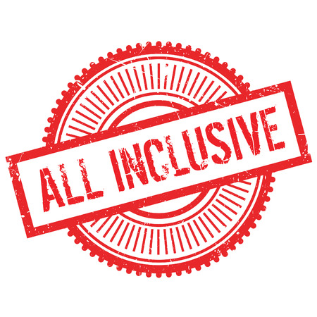 inclusive: All inclusive stamp. Grunge design with dust scratches. Effects can be easily removed for a clean, crisp look. Color is easily changed.