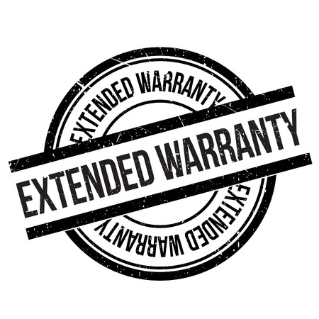 assertion: Extended warranty stamp. Grunge design with dust scratches. Effects can be easily removed for a clean, crisp look. Color is easily changed. Illustration