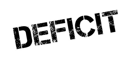 trough: Deficit rubber stamp. Grunge design with dust scratches. Effects can be easily removed for a clean, crisp look. Color is easily changed.