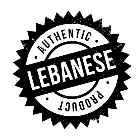lebanese: Authentic lebanese product stamp. Grunge design with dust scratches. Effects can be easily removed for a clean, crisp look. Color is easily changed. Illustration