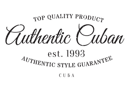 certificated: Authentic cuban product stamp. Grunge design with dust scratches. Effects can be easily removed for a clean, crisp look. Color is easily changed.