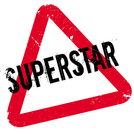 Superstar rubber stamp. Grunge design with dust scratches. Effects can be easily removed for a clean, crisp look. Color is easily changed. Illustration