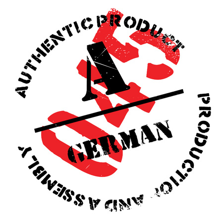 Authentic german product stamp. Grunge design with dust scratches. Effects can be easily removed for a clean, crisp look. Color is easily changed.