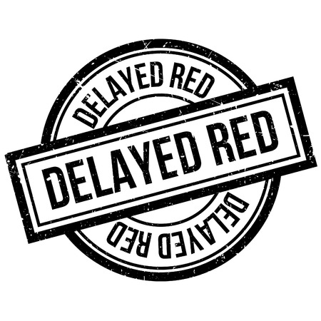 Delayed Red rubber stamp. Grunge design with dust scratches. Effects can be easily removed for a clean, crisp look. Color is easily changed.