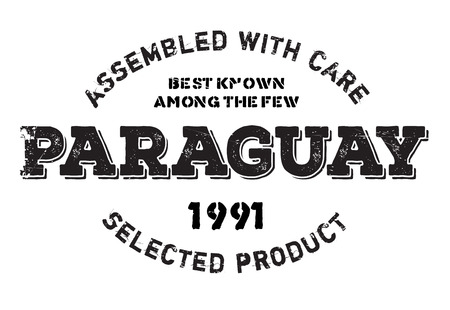 Assembled in Paraguay rubber stamp. Grunge design with dust scratches. Effects can be easily removed for a clean, crisp look. Color is easily changed.