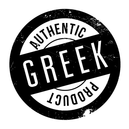 Authentic greek product stamp. Grunge design with dust scratches. Effects can be easily removed for a clean, crisp look. Color is easily changed.