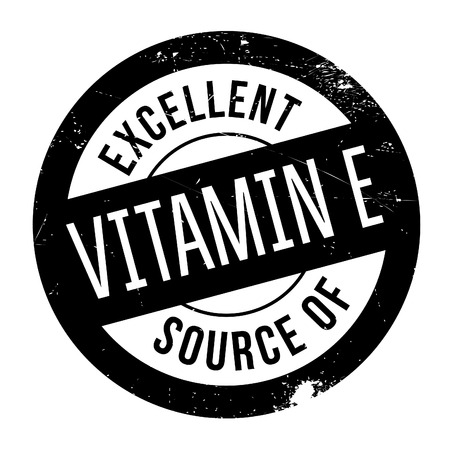 vitamin e: Excellent source of vitamin E stamp. Grunge design with dust scratches. Effects can be easily removed for a clean, crisp look. Color is easily changed.
