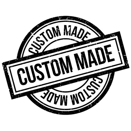 built: Custom Made rubber stamp. Grunge design with dust scratches. Effects can be easily removed for a clean, crisp look. Color is easily changed. Illustration