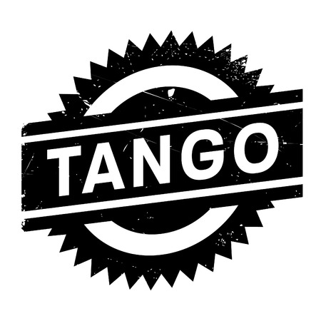 Famous dance style, tango stamp. Grunge design with dust scratches. Effects can be easily removed for a clean, crisp look. Color is easily changed.