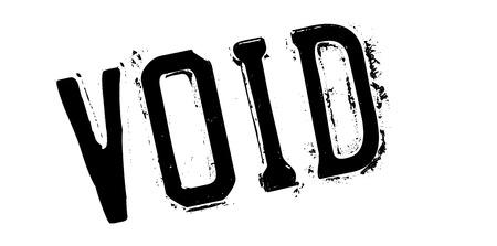 rubber stamp Void. conception grunge avec des rayures de poussière. Les effets peuvent être facilement enlevés pour un aspect propre et croustillant. La couleur est facilement changée. Vecteurs