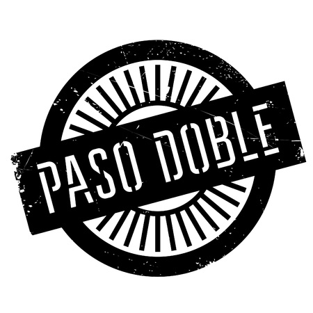 paso doble: Famous dance style, Paso Doble stamp. Grunge design with dust scratches. Effects can be easily removed for a clean, crisp look. Color is easily changed.