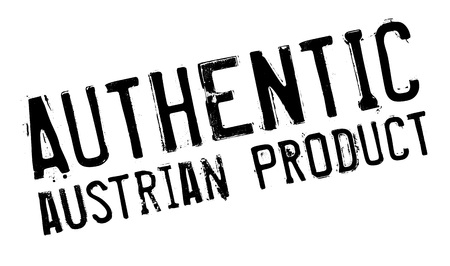 Authentic austrian product stamp. Grunge design with dust scratches. Effects can be easily removed for a clean, crisp look. Color is easily changed.