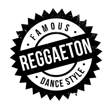 Famous dance style, Reggaeton stamp. Grunge design with dust scratches. Effects can be easily removed for a clean, crisp look. Color is easily changed. Stock Illustratie