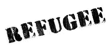 oppression: Refugee rubber stamp. Grunge design with dust scratches. Effects can be easily removed for a clean, crisp look. Color is easily changed. Illustration