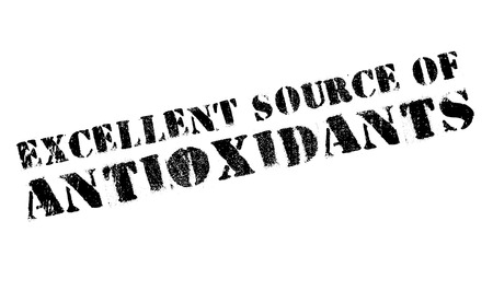 Excellent source of antioxidants stamp. Grunge design with dust scratches. Effects can be easily removed for a clean, crisp look. Color is easily changed.