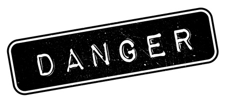 hazardous sign: Danger rubber stamp. Grunge design with dust scratches. Effects can be easily removed for a clean, crisp look. Color is easily changed.