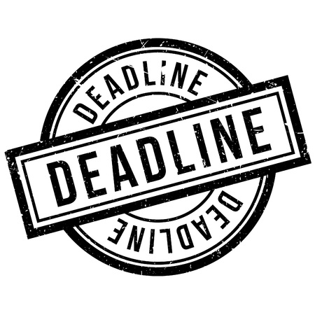 proceedings: Deadline rubber stamp. Grunge design with dust scratches. Effects can be easily removed for a clean, crisp look. Color is easily changed.