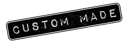 Custom Made timbro di gomma. disegno del grunge con graffi di polvere. Gli effetti possono essere facilmente rimossi per un look pulito e fresco. Il colore è molto semplice. Vettoriali