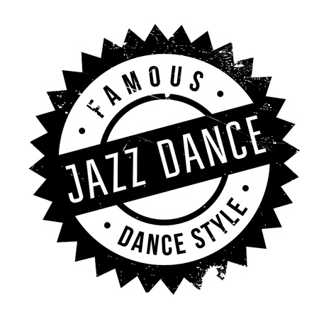 Famous dance style, Jazz dance stamp. Grunge design with dust scratches. Effects can be easily removed for a clean, crisp look. Color is easily changed.