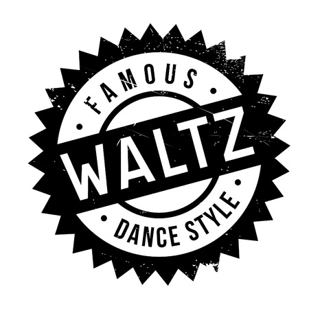 waltz: Famous dance style, waltz stamp. Grunge design with dust scratches. Effects can be easily removed for a clean, crisp look. Color is easily changed.