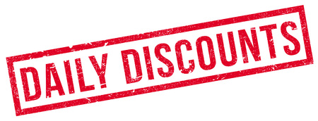 discounting: Daily Discounts rubber stamp. Grunge design with dust scratches. Effects can be easily removed for a clean, crisp look. Color is easily changed. Illustration