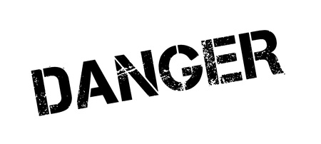endanger: Danger rubber stamp. Grunge design with dust scratches. Effects can be easily removed for a clean, crisp look. Color is easily changed.