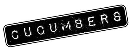 Cucumbers rubber stamp. Grunge design with dust scratches. Effects can be easily removed for a clean, crisp look. Color is easily changed.