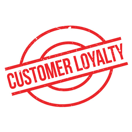 Customer Loyalty rubber stamp. Grunge design with dust scratches. Effects can be easily removed for a clean, crisp look. Color is easily changed.