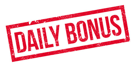 discounting: Daily Bonus rubber stamp. Grunge design with dust scratches. Effects can be easily removed for a clean, crisp look. Color is easily changed.