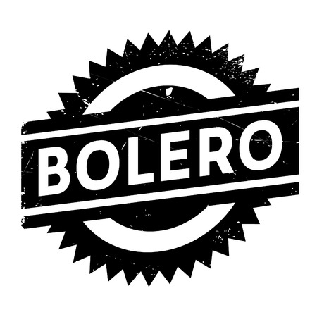 Famous dance style, bolero stamp. Grunge design with dust scratches. Effects can be easily removed for a clean, crisp look. Color is easily changed.