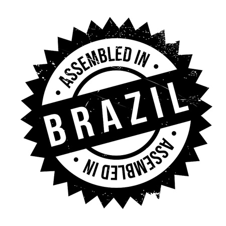 exported: Assembled in Brazil rubber stamp. Grunge design with dust scratches. Effects can be easily removed for a clean, crisp look. Color is easily changed.