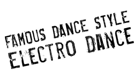 electro world: Famous dance style, Electro Dance stamp. Grunge design with dust scratches. Effects can be easily removed for a clean, crisp look. Color is easily changed. Illustration