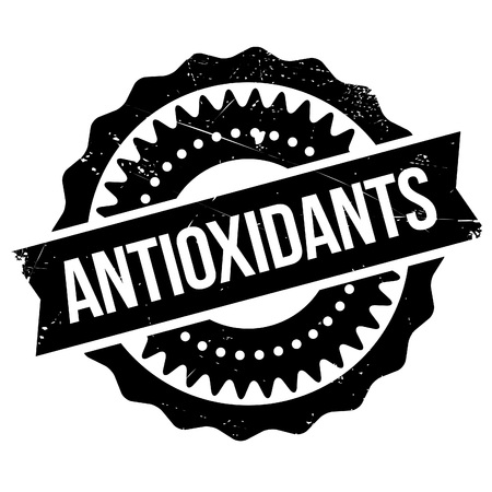 vivo: Antioxidants stamp. Grunge design with dust scratches. Effects can be easily removed for a clean, crisp look. Color is easily changed. Illustration