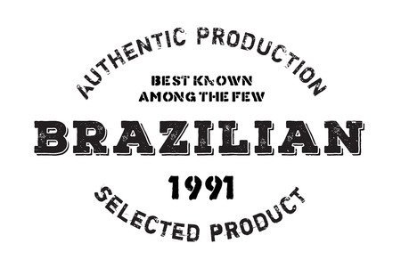 certificated: Authentic brazilian product stamp. Grunge design with dust scratches. Effects can be easily removed for a clean, crisp look. Color is easily changed. Illustration