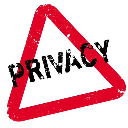 Privacy rubber stamp. Grunge design with dust scratches. Effects can be easily removed for a clean, crisp look. Color is easily changed. Illustration