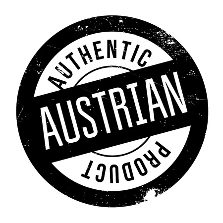 austrian: Authentic austrian product stamp. Grunge design with dust scratches. Effects can be easily removed for a clean, crisp look. Color is easily changed. Illustration