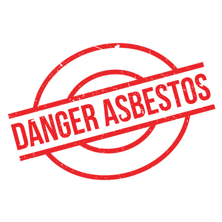 resistant: Danger Asbestos rubber stamp. Grunge design with dust scratches. Effects can be easily removed for a clean, crisp look. Color is easily changed.